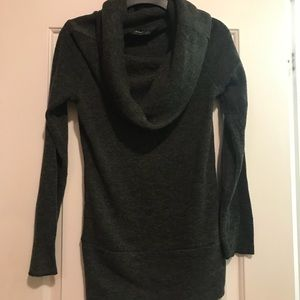 Charcoal gray sweater tunic